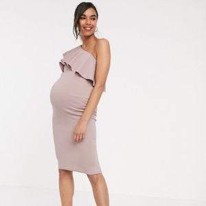 ASOS one shoulder maternity dress